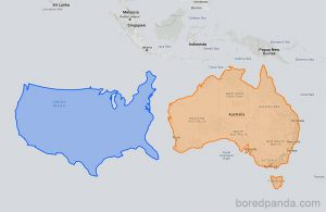 Different Ways of Looking at the World Map