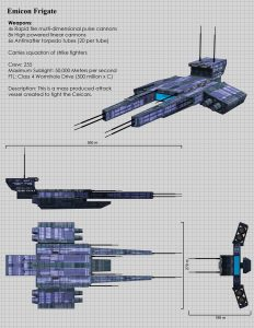 The Emicon Frigate Specs