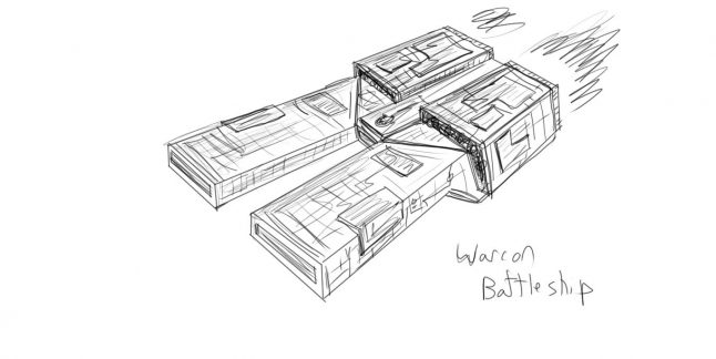 Daily Sketch: Warcon Battleship